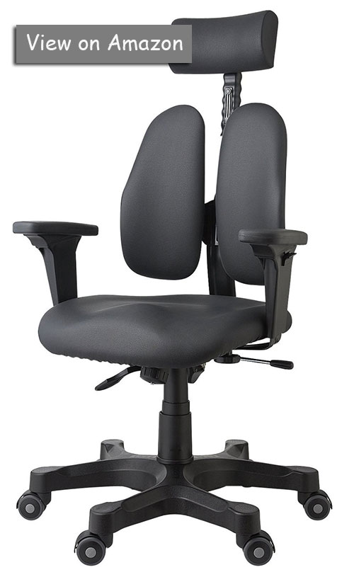 Leaders Executive Office Chair Fabric Synthetic Leather