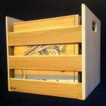 Locally made wood record crates from Flook D. Doo now here!