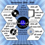 BLACK FRIDAY @ BACKBEAT BOOKS AND MUSIC