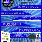 """Record Store Day and our 2nd """"Re-Birthday"""" weekend sale. April 18-19-20, 2015."""
