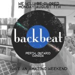 Backbeat will be closed this Monday August 7th