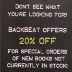 20% off new book orders