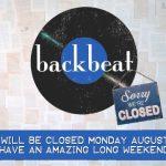 Closed on Monday