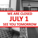 Closed July 1st