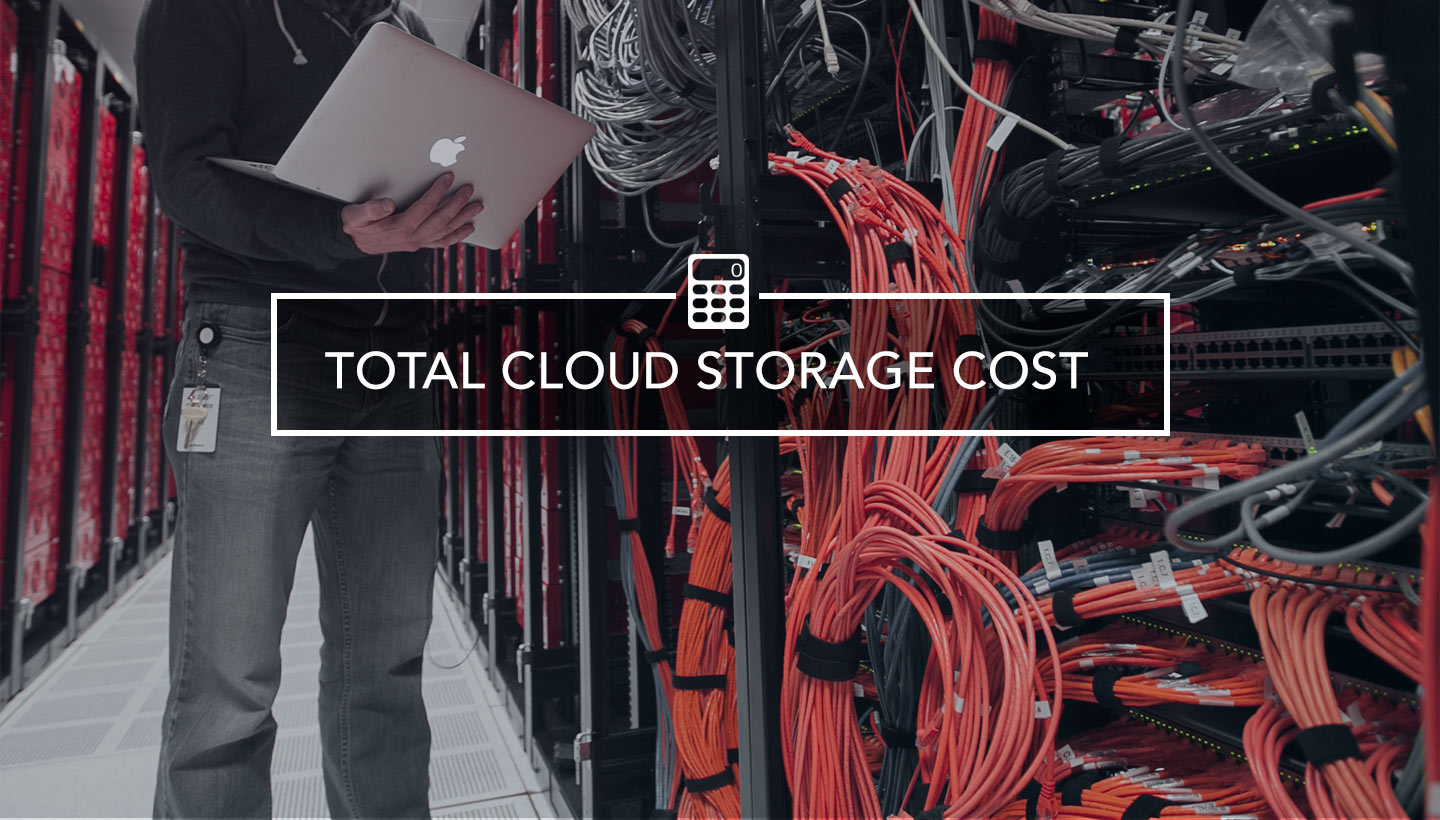 hight resolution of total cloud storage cost