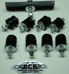 bcb scout 80 800 polyurethane body bushing kit [ 1418 x 1631 Pixel ]
