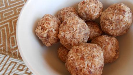 Coconut Date Bliss Balls