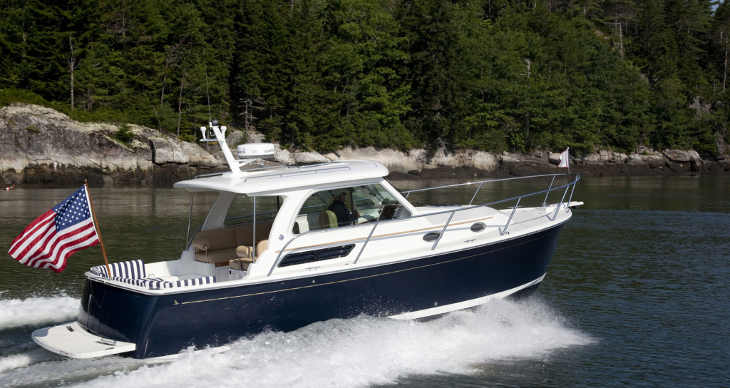 Back Cove 30 Down east style power boat crafted in