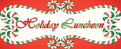 holiday luncheon candy cane borders