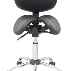 Salli Saddle Chair Design Principles Kanewell 901sbl Twin Ergonomic Seat With Backrest, Leather, Dental Stool, Office Task