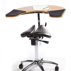 Salli Saddle Chair Big And Tall Twin Seat With Elbow Table