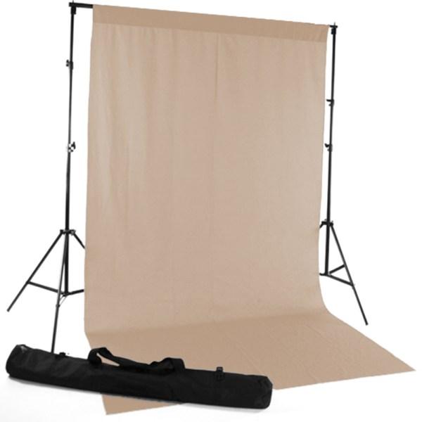 Mocha Fabric Backdrop Express