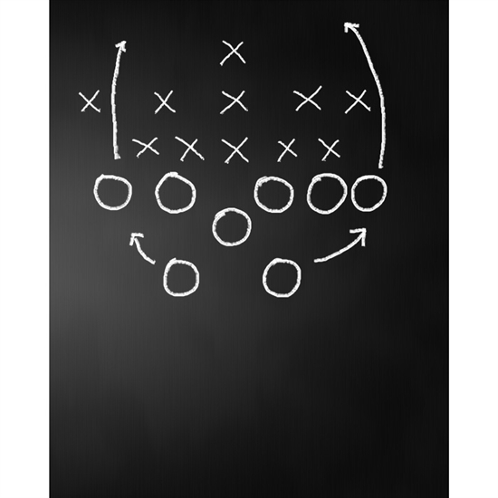 Offensive Play Chalkboard Printed Backdrop  Backdrop Express