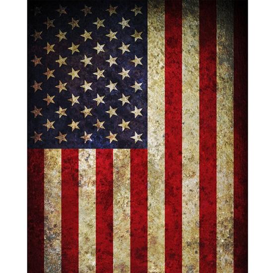 vintage american flag printed