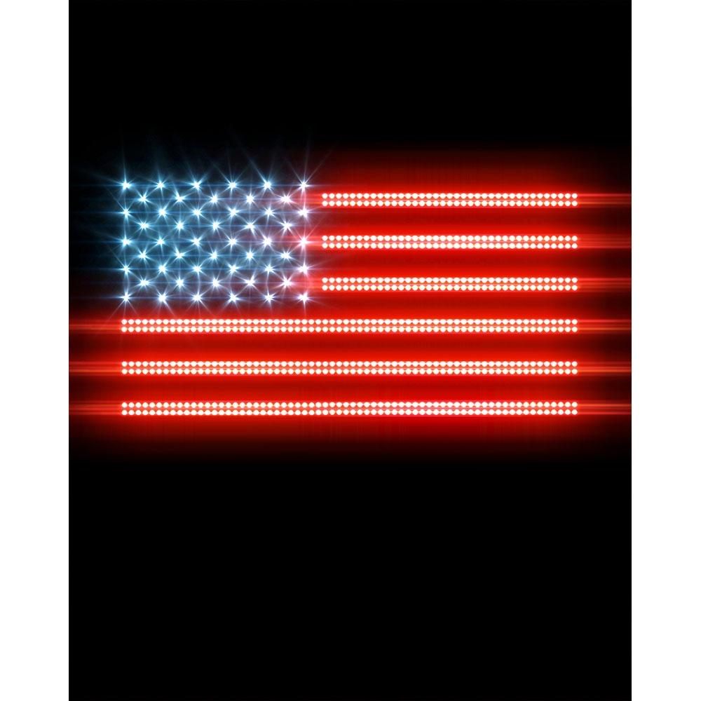 glowing american flag printed