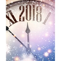 New Year's Eve Clock Printed Backdrop | Backdrop Express