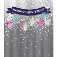 New Year's Eve Banner Printed Backdrop | Backdrop Express