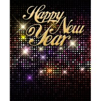 New Year's Eve Disco Ball Printed Backdrop | Backdrop Express