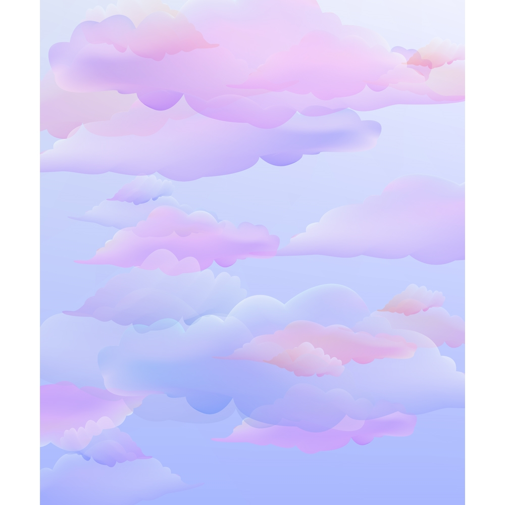 Cotton Candy Clouds Printed Backdrop  Backdrop Express