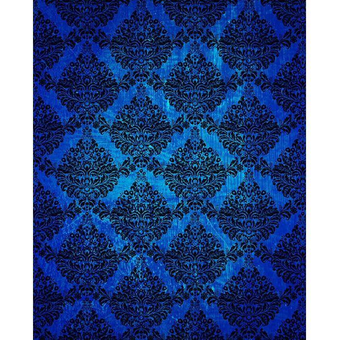 King Of The Fall Wallpaper Dark Blue Grunge Damask Printed Backdrop Backdrop Express