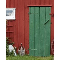 Old Barn Door Printed Backdrop | Backdrop Express