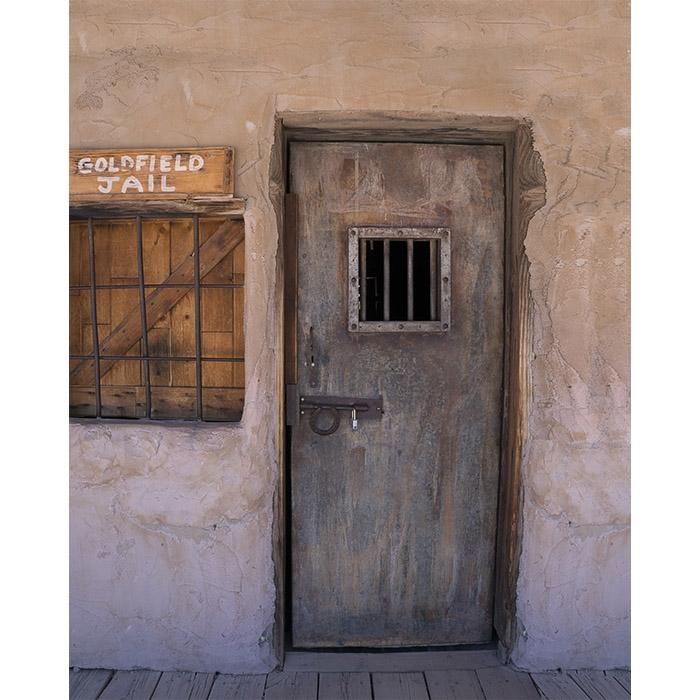 Western Jail Printed Backdrop  Backdrop Express