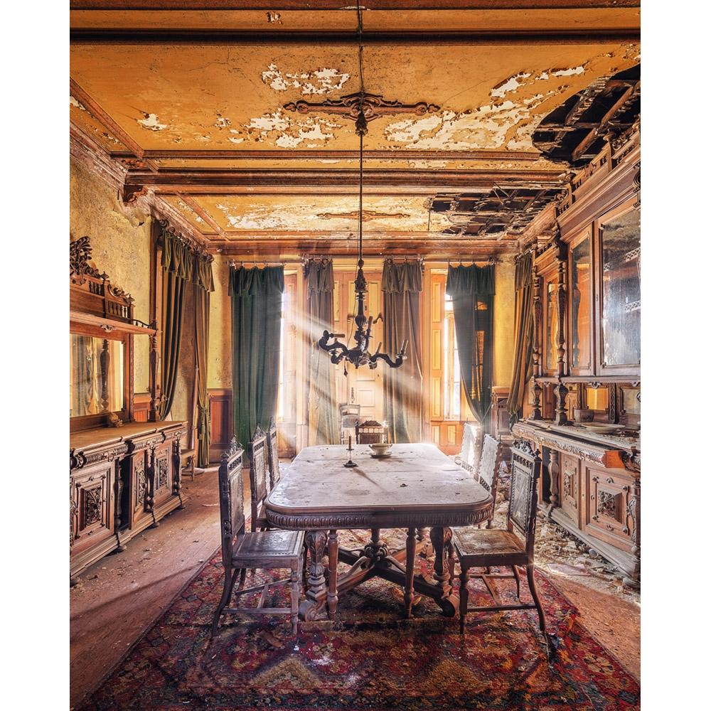Abandoned Dining Room Printed Backdrop Backdrop Express