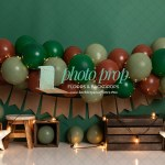 Neutrals Balloon Garland Photography Backdrop Arch Military Camouflage Minecraft Greens Brown Hunter Lights