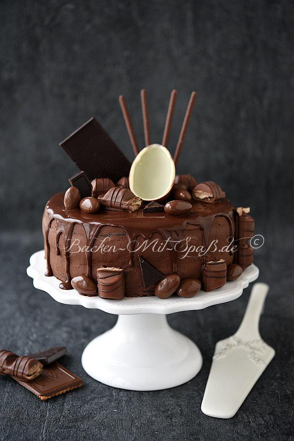Schoko Nuss Torte mit Orangencreme  Rezept