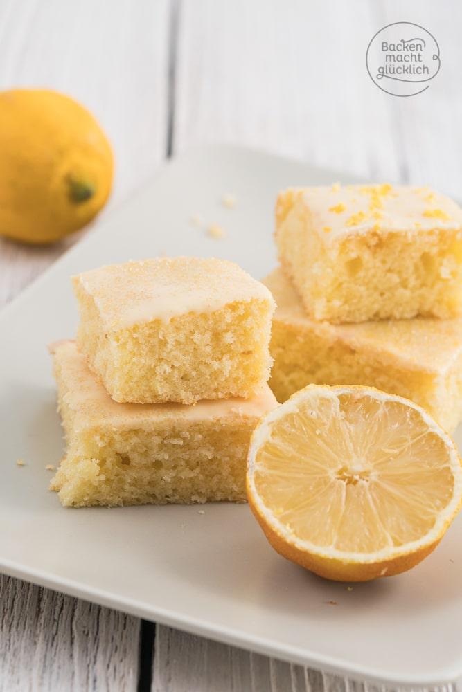 Saftiger Zitronenkuchen vom Blech  Backen macht glcklich