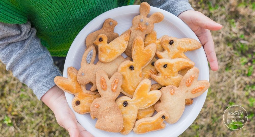 Klassische OsterhasenPltzchen aus Mrbeteig  Backen