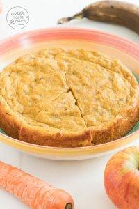 Apfel-Mhren-Kuchen ohne Zucker | Backen macht glcklich