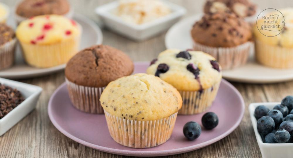 Muffins Grundrezept mit Tipps  Backen macht glcklich
