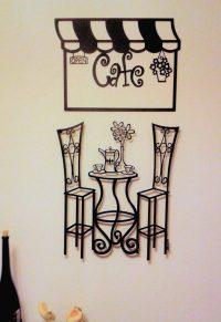 Metal wall art sculptures- Bistro Table Cafe Paris History