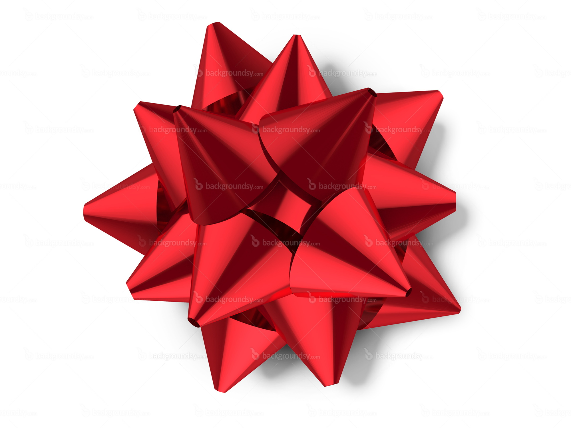Red Gift Bow PNG