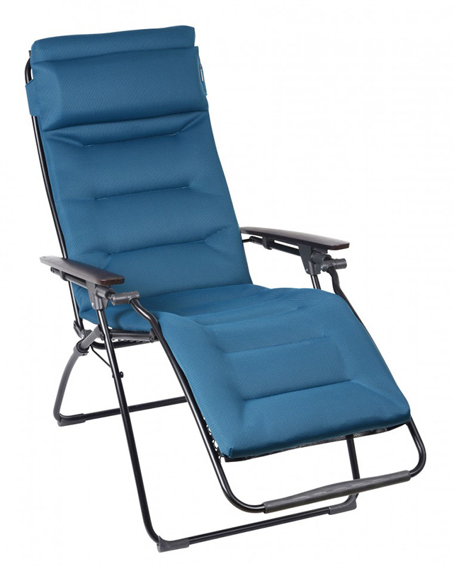 foldable cushion chair high with adjustable height lafuma zero-gravity sun-loungers - back in action