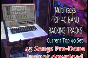 45 current top 40 Cover-BAND-BACKING-TRACKS