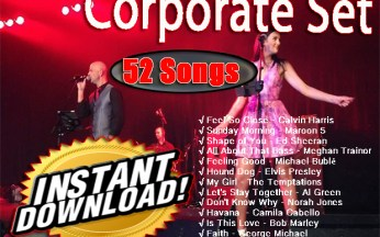 52 song Corporate Backing track Sets Instant Download