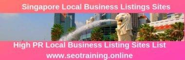 Singapore Business Listing Websites List 2019