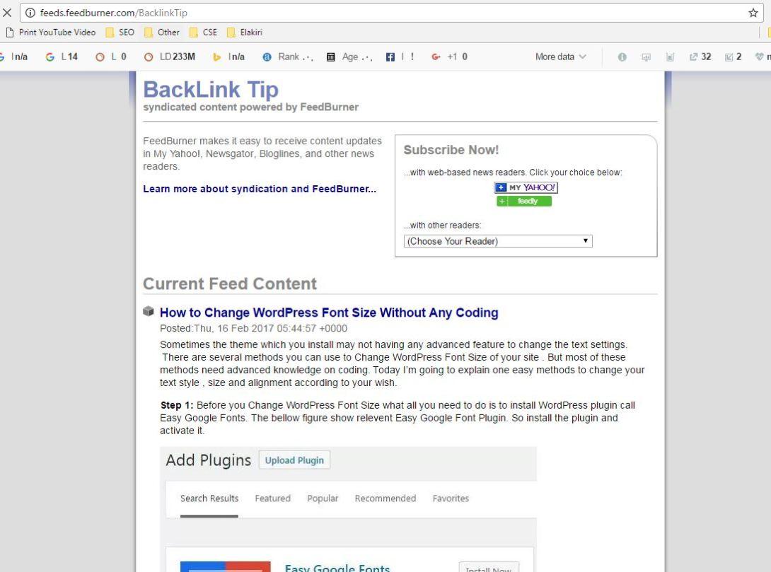 feedburner email subscription code