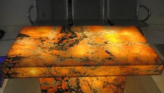 Chandler Construction Backlit Stone Sample Materials and Options