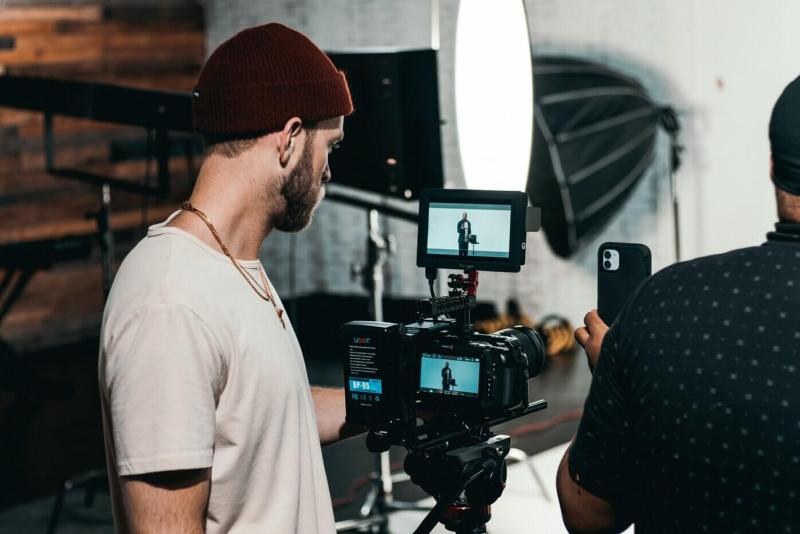 video shooting in progress
