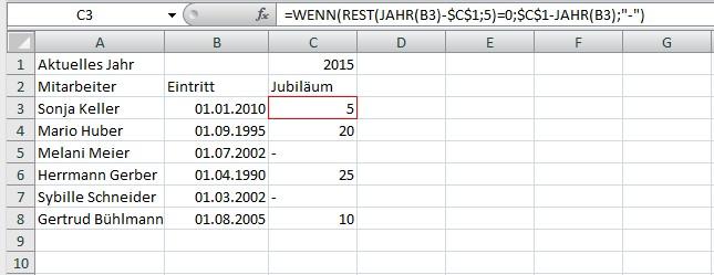 excel alter aus datum berechnen