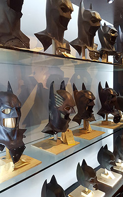 Masques originaux de Batman à Warner Bros Studio