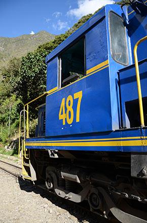 Le train du Machu Picchu