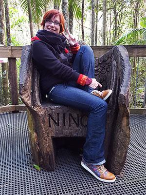 Le trône de Ninon à la Rainforest de Port Macquarie