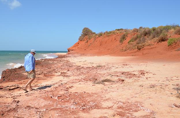 François Péron avec Garth, notre workaway en Australie