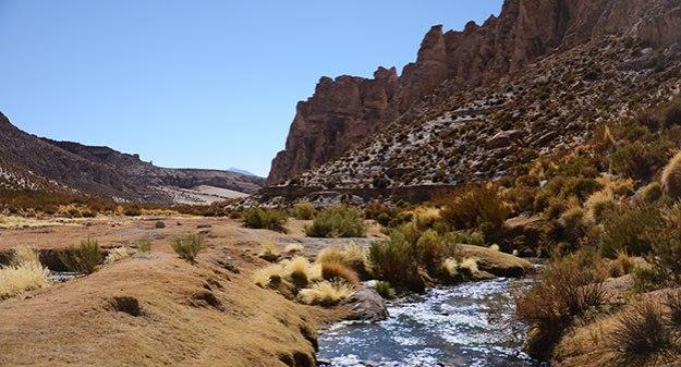 Canyon sur la route du Salar de Uyuni