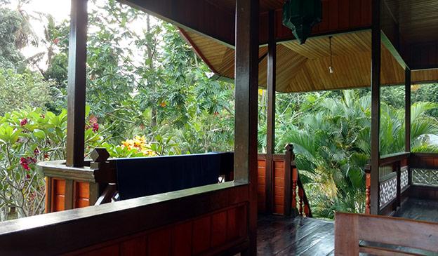 Notre terrasse à Bunaken