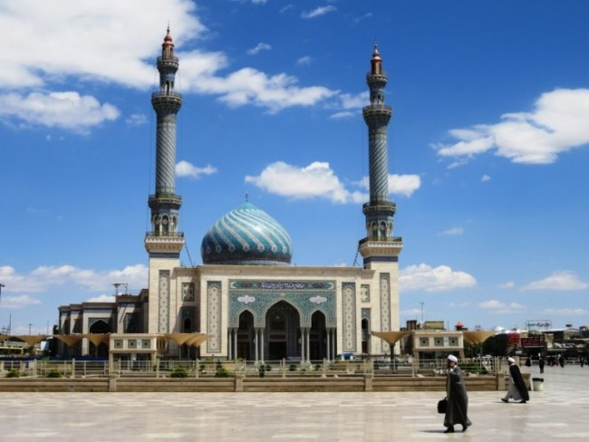 Azam mosque in Qom Iran